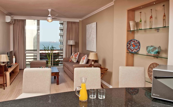 Spacious Lounge at 304 Lighthouse Mall Apartment in Umhlanga